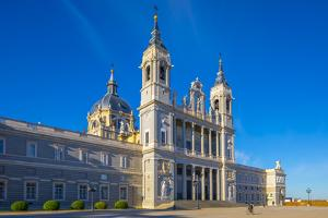 Exterior of Almudena Cathedral, Madrid, Spain by Neil Farrin