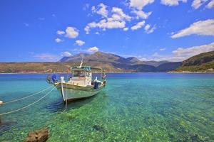 Fishing boat, Limeni, Mani Peninsula, The Peloponnese, Greece by Neil Farrin