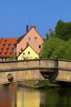 Fleisch Bridge, Nuremberg, Bavaria, Germany, Europe by Neil Farrin