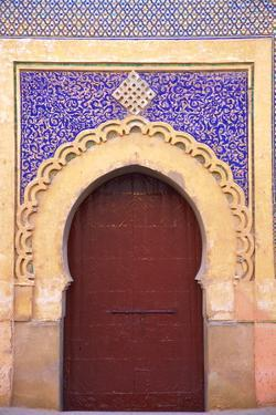 Gate to Royal Palace, Meknes, Morocco, North Africa, Africa by Neil Farrin
