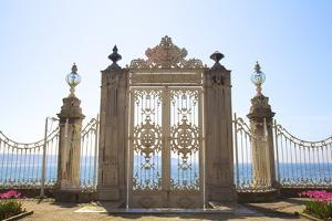 Gate to the Bosphorus, Dolmabahce Palace, Istanbul, Turkey, Europe by Neil Farrin