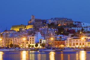 Ibiza Harbour at Night, Ibiza, Balearic Islands, Spain, Europe by Neil Farrin
