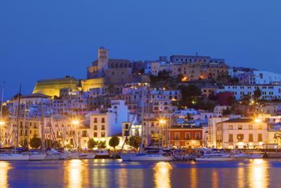 Ibiza Harbour at Night, Ibiza, Balearic Islands, Spain, Europe by Neil Farrin