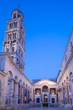 Illuminated Diocletian's Palace, Split, Dalmatian Coast, Croatia by Neil Farrin