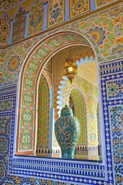 Interior Details of Continental Hotel, Tangier, Morocco, North Africa, Africa by Neil Farrin