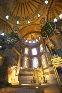 Interior of Hagia Sophia (Aya Sofya Mosque) (The Church of Holy Wisdom) by Neil Farrin