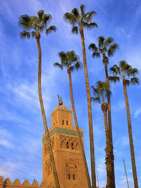Koutoubia Mosque, Marrakech, Morocco, North Africa by Neil Farrin