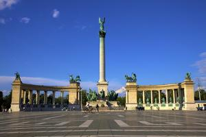 Millennium Monument, Heroes Square, Budapest, Hungary, Europe by Neil Farrin