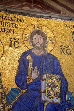Mosaic of Christ, Interior of Hagia Sophia by Neil Farrin