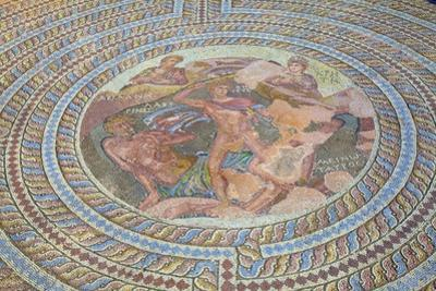 Mosaics at Kato Paphos Archaeological Park, UNESCO World Heritage Site, Paphos, Cyprus by Neil Farrin