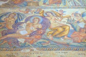 Mosaics at Kato Paphos Archaeological Park, UNESCO World Heritage Site, Paphos, Cyprus by Neil Farrin