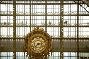 Musee D'Orsay Clock, Paris, France, Europe by Neil Farrin