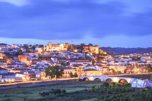 Old Cathedral and Castle at Dusk, Silves, Western Algarve, Algarve, Portugal, Europe by Neil Farrin