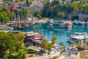 Old Harbour, Kaleici, Antalya, Turkey Minor, Eurasia by Neil Farrin