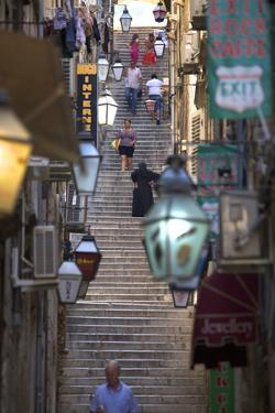 Old Stairway, Dubrovnik, Croatia, Europe by Neil Farrin
