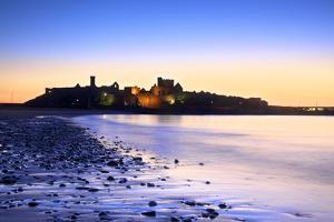 Peel Castle at Dusk, St. Patrick's Isle, Isle of Man by Neil Farrin