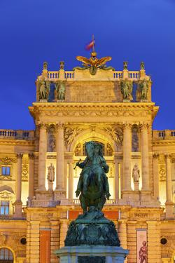 Prince Eugene Statue, Hofburg Palace Exterior, Vienna, Austria by Neil Farrin