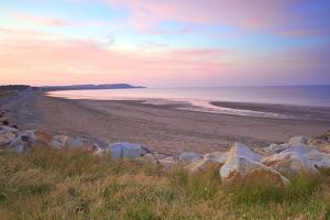Ramsey Beach at Sunset, Isle of Man, Europe by Neil Farrin