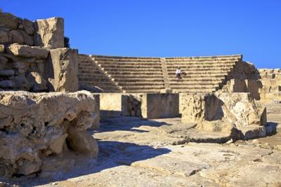 Roman Odeon, Kato Paphos Archaeological Park, UNESCO World Heritage Site, Paphos, Cyprus by Neil Farrin