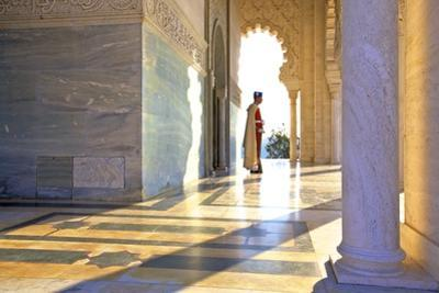 Royal Guard on Duty at Mausoleum of Mohammed V, Rabat, Morocco, North Africa, Africa by Neil Farrin