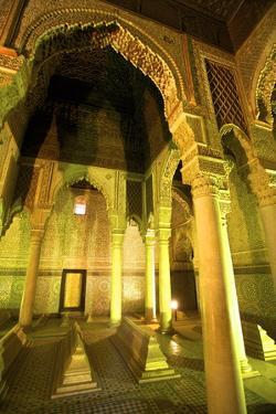 Saadian Tombs, UNESCO World Heritage Site, Marrakech, Morocco, North Africa, Africa by Neil Farrin