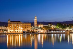 Split Harbour with Cathedral of Saint Domnius, Split, Dalmatian Coast, Croatia by Neil Farrin