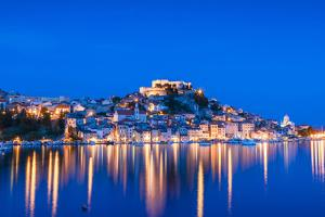 St. Michael's Fortress and Sibenik Harbour, Sibenik, Dalmatian Coast, Croatia by Neil Farrin