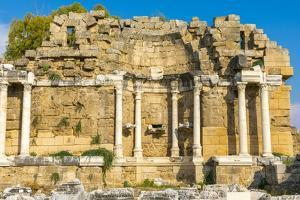 State Agora, Side, Antalya Province, Turkey Minor, Eurasia by Neil Farrin
