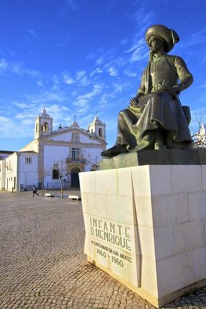 Statue of Henry The Navigator, Lagos, Western Algarve, Algarve, Portugal, Europe by Neil Farrin