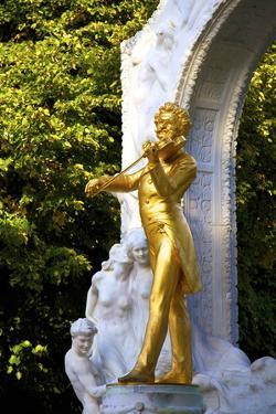 Statue of Johann Strauss, Stadtpark, Vienna, Austria, Central Europe by Neil Farrin