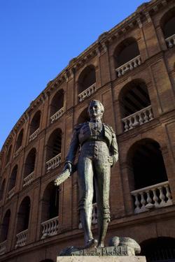Statue of the Toreador Manolo Montoliu, Plaza De Toros, Valencia, Spain, Europe by Neil Farrin