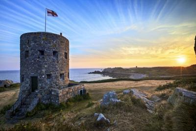 Sunrise at Martello Tower No 5, L'Ancresse Bay, Guernsey, Channel Islands by Neil Farrin
