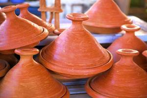 Tagine Pots, Tangier, Morocco, North Africa, Africa by Neil Farrin