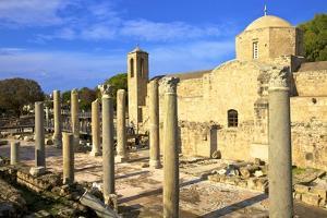 The 12th century Stone Church of Agia Kyriaki, Paphos, Cyprus, Eastern Mediterranean, Europe by Neil Farrin