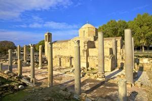 The 12th century stone Church of Agia Kyriaki, Pathos, Cyprus, Eastern Mediterranean Sea, Europe by Neil Farrin