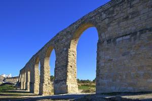 The 18th century Aqueduct, Larnaka, Cyprus, Eastern Mediterranean Sea, Europe by Neil Farrin