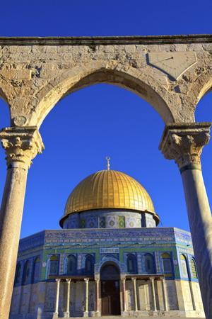 The Dome of the Rock, Temple Mount, UNESCO World Heritage Site, Jerusalem, Israel, Middle East by Neil Farrin