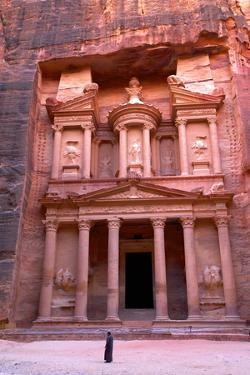 The Treasury, Petra, UNESCO World Heritage Site, Jordan, Middle East by Neil Farrin