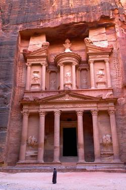 The Treasury, Petra, UNESCO World Heritage Site, Jordan, Middle East by Neil Farrin