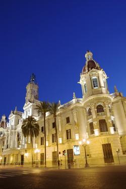 Town Hall, Plaza Del Ayuntamiento, Valencia, Spain, Europe by Neil Farrin