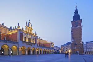 Town Hall Tower and Cloth Hall, Market Square, Krakow, Poland, Europe by Neil Farrin