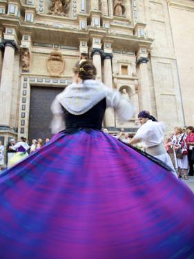 Traditional Dancing Outside the 13th Century Iglesia Y Convento Del Carmen, Valencia, Spain by Neil Farrin