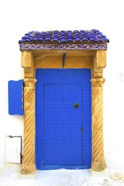 Traditional Moroccan Decorative Door, Rabat, Morocco, North Africa by Neil Farrin