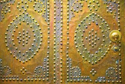 Traditional Moroccan Decorative Door, Tangier, Morocco, North Africa, Africa by Neil Farrin