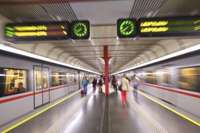 U-Bahn, Vienna, Austria, Europe by Neil Farrin