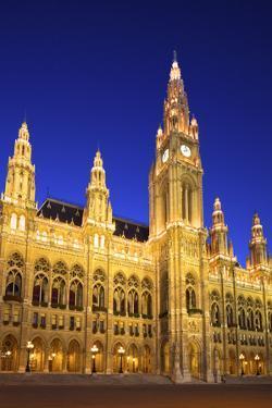 Vienna City Hall, Vienna, Austria by Neil Farrin