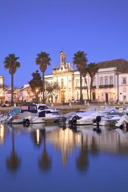 View of Arco da Vila Across The Harbour, Faro, Eastern Algarve, Algarve, Portugal, Europe by Neil Farrin