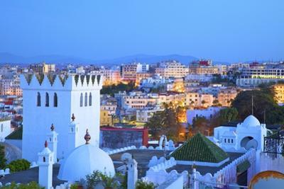 View over Kasbah to Tangier, Tangier, Morocco, North Africa, Africa by Neil Farrin