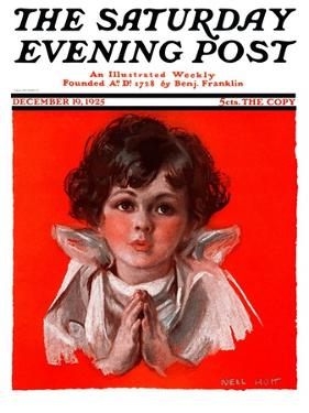 """""""Little Angel,"""" Saturday Evening Post Cover, December 19, 1925 by Neil Hott"""