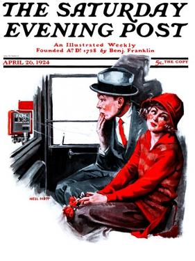 """Taxi Cab,"" Saturday Evening Post Cover, April 26, 1924 by Neil Hott"